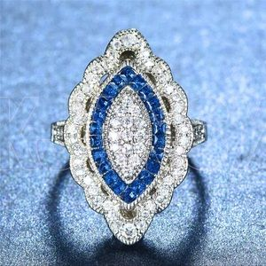 London Blue Zircon Statement Ring